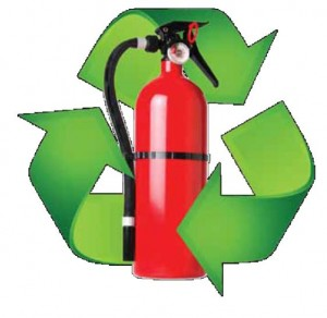 Recycle Fire Extinguishers Pic