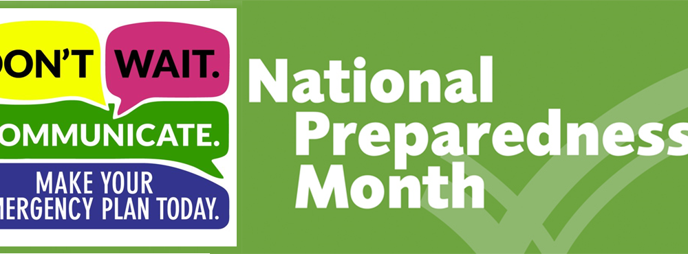 National Preparedness Month Starts 9/1