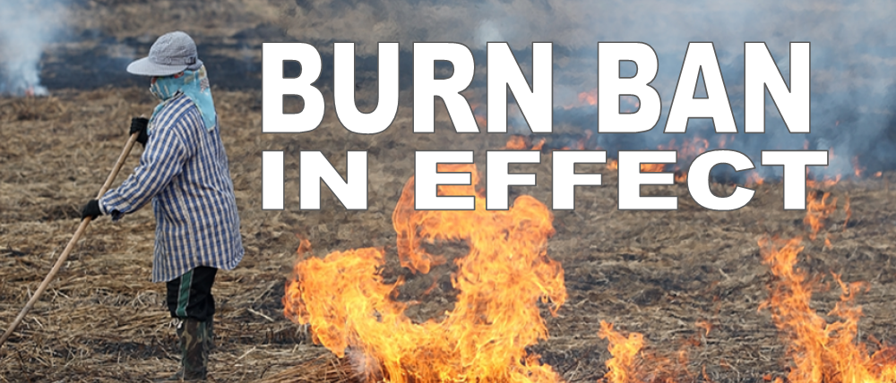 Open burn and Controlled Burn Ban